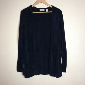 exclusively for you lord & taylor blue cardigan